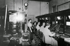 Pacific Telephone & Telegraph operators, ca. 1900.
