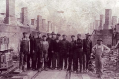 Workers at New Straitsville Brick Plant