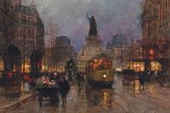 A Flower Seller in the Place de la Republique, Paris Fausto Giusto Italian, 1867-1941