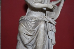 A Roman sculpture of Terpsichore, the Muse of #Dance, playing a lyre, 1st century CE. (Vatican Museums, Rome).
