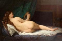 Adrien de Boucherville Nu couché de dos, XIXe siècle