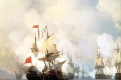 Battle of Chios on 24 June, 1770, 1848