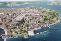 Constantinople in the 13th C. by French Artist Antoine Helbert