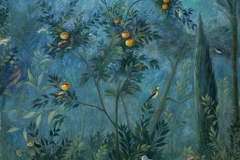 fresques murales de la Villa Livia, à Rome. Ier siècle. Vue n°1