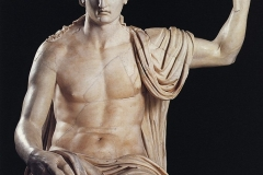 Colossal Seated Statue of Augustus (Augustus as Jupiter Capitolinus). Marble. 1st century AD. Height 2.15 m.