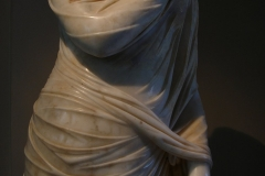 Statue of Cornelia Antonia from Antiochia in Pisidia posing and dressed as goddess Pudicitia. Ancient Roman art, 2nd century AD.