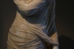 Statue of Cornelia Antonia from Antiochia in Pisidia posing and dressed as goddess Pudicitia. Ancient Roman art, 2nd century AD.