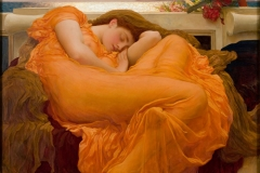 Flaming June is a painting by Sir Frederic Leighton, produced in 1895