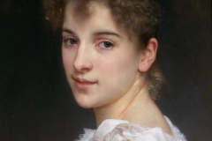 Gabrielle Cot is a portrait oil on canvas painting by William-Adolphe Bouguereau from 1890