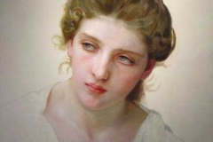 Head Study of Female Face Blonde bouguereau