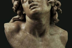 "Head known as the ""Dying Alexander"", Hellenistic art, late 2nd century BC. (Uffizi Gallery, Florence)"