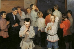 In 1895, Nikolay Bogdanov-Belsky painted the famous Mental Arithmetic. In the Public School of S. Rachinsky.