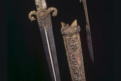 Italian dagger with agate hilt, silver hilt and sheath, 16th century