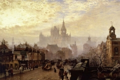 John O'Connor - From Pentonville Road looking west, evening, 1884