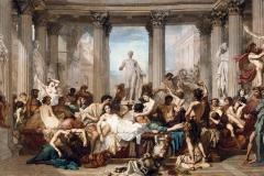 Les Romains de la décadence. Une superbe œuvre de Thomas Couture
