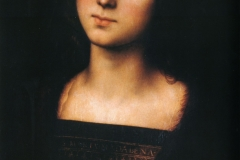 Mary Magdalene is an oil on panel painting of Mary Magdalene, dating to around 1500 and now in the Galleria Palatina in Florence. It is now attributed to Perugino.