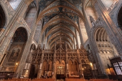 Nave of C15th Basilique Cathédrale Sainte-Cécile, Albi, France.