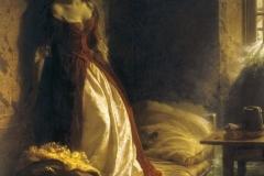 Princess Tarakanova, in the Peter and Paul Fortress at the Time of the Flood - Konstantin Flavitsky, 1864.