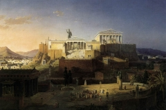 Reconstruction of the Acropolis and Areopagus in Athens by Leo von Klenze, 1846.