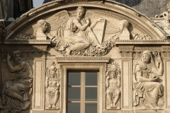 Reliefs in the Cour Carrée, Louvre Palace on the right of the Pavilon de l'Horloge.