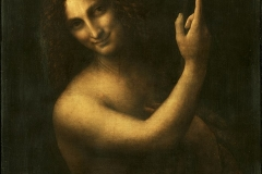 St. John the Baptist by Leonardo da Vinci. Probably completed from 1513 to 1516.