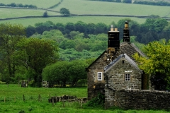 Stone cottage, Derbyshire, England.