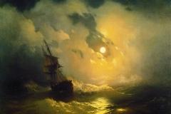 Stormy Sea at Night - Ivan Aivazovsky, 1849. Pavlovsk Palace, Saint Petersburg.