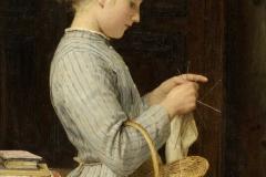 Strickendes Mädchen, 1888
