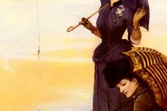 Sur La Plage, Le Tréport (On the Beach, Le Treport) - Albert Aublet, 1887.