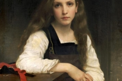 The Fair Spinner bouguereau