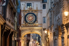 The Gros-Horloge is a fourteenth-century astronomical clock in Rouen, Normandy.
