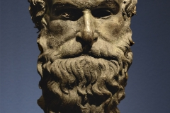The Head of a Philosopher is a 4th-century BC ancient Greek bronze sculpture produced in Magna Graecia.