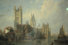 The Houses of Parliament from Millbank by David Roberts, 1861.