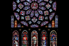 The Medieval Northern Rose Window of Chartres Cathedral, France