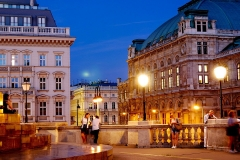 Vienna, the capital of Austria, in the evening.