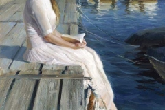 Vladimir Volegov December 19, 1957 is a Russian Contemporary Artist. At pier of Blanes, June 2015